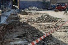 Kasseien uitgraven