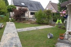 Beschermen van het gras met rijplaten